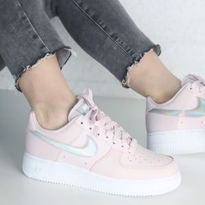 ✔️New✔️ NIKE Air Force 1 '07 'Pink Iridescent'